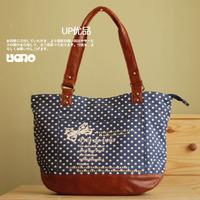 Women's bags 2012 polka dot solid color women's shoulder bag women's handbag canvas bag