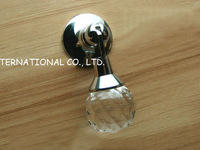 D20xL60mm Free shipping pure copper with K9 crystal glass furniture cupboard cabinet knobs