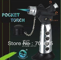 Refillable Pocket torch Spray Gun Jet Flame Butane Cigarette Lighter