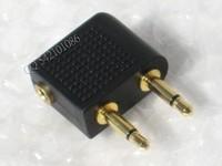 Aviation earphones 3.5mm audio adaptor