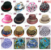 Various Baby Fedoras Kids Cowboy Hat Fedora Hats for Children Baby Spring/Autumn Jazz Cap Kids Top Hat Dicers 10pcs/lot