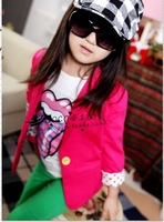 Baby girls coat kids children candy suit autumn long sleeve outwear girls boy Coat 1203 B lca