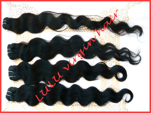 Mix length,3pcs/Lot,Unprocessed pure brazilian virgin hair,4A grade body wave,hair extension,DHL free shipping.(China (Mainland))