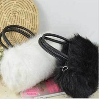 2012 hot sale high quality evening bags fashion women Genuine Leather Bags fashion handbags women chain bag fur handbag