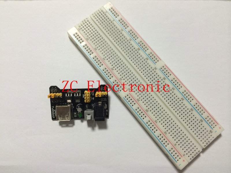 Special promotions 1lot= MB102 Breadboard Power Supply Module 3.3V/5V + 830 Tie Point Breadboard Excellent MB-102 kit in stock(China (Mainland))