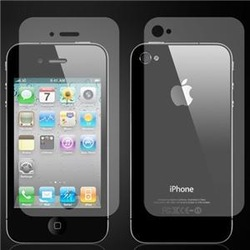 12 x Front + Back Anti Glare Screen Protector Film for iphone 4 4S - ( 6F + 6B), Free & Drop Shipping(China (Mainland))