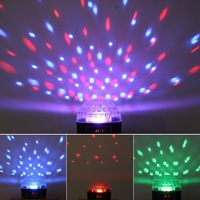 Free Shipping! Crystal Magic Ball LED Laser Stage Light Stage DX512 For Party Disco DJ Bar Lighting Show