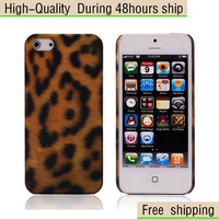 New Leopard Design Plastic Hard Case Cover For Apple iphone 5 5G 5th Free Shipping UPS DHL CPAM HKPAM BC-45