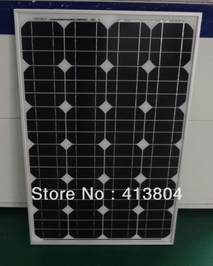 2013 Mono crystal silicon Solar panel 60W Free shipping(China (Mainland))