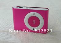 Hot sale brand new cute mini mp3 player 20pcs/lot mini clip mp3 player wholesale+ Singapore post free shipping+6 colors option