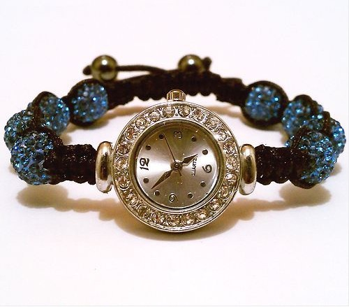 BLUE SKY SHAMBALLA BRACELET 8 Disco Balls Wrist WATCH AAA Crystal Beads Jewelry(China (Mainland))