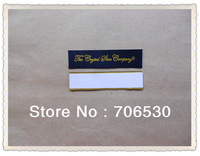 Free Shipping Customized Shoe Labels Straight Cut Damask Sticky Woven Label High Quality