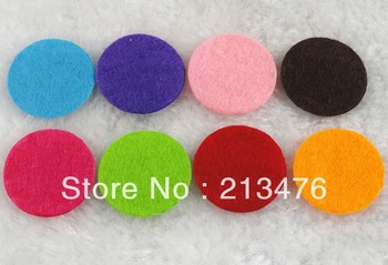 800pcs Felt 25mm Circle Appliques - Mix Free Shipping pick color