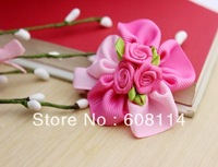 Free Shipping,Wholesale(36 pcs/lot) Cute Flower Pattern Cloth Little Girls' Hairgrips/Hair Ornament/Kids'  Hairwear