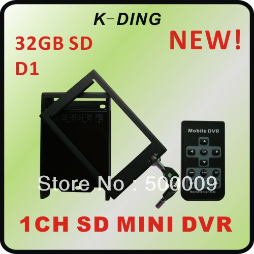 1 CH SD Car DVR 1CH Mobile DVR 32GB SD IR remote, GPS supported for taxies/bus/train/truck/private cars KD-302 free shipping(China (Mainland))