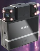 Free shipping H2000 2.0 inch screen Dual Lens 8 IR Night Vision LED 120 Degree view angle car dvr