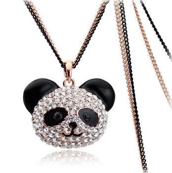 Wholesale black eye Winnie sweater chain -necklace Teddy Bear 2980-2-94 gold