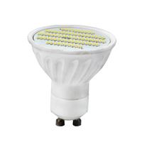10PCS 6W Ceramic GU10 led spotlight 500LM SMD 3014 76PCS Warm white cool white AC100-240V Free shipping