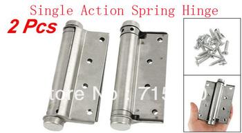 "2 Pcs Door 4"" Adjustable Tension Single Action Spring Hinges"