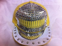 Men Women Kid Spike Studded Rivet Cap Hat Punk Rock Hiphop baseball cap