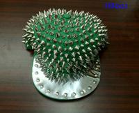 Hedgehog Punk Hiphop Unisex Hat Gold Spikes Spiky Studded Cap