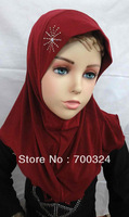 H414a beautiful small girl hijab,fast delivery,assorted colors