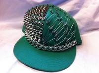 2012 freeshipping studded rivet hip-hop cap pins snapback cap baseball flat brim hat punk
