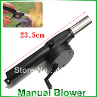 Manual Blower Barbecue Fire Products Barbecue Tools (Black and Silver)