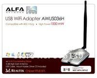 WIFI USB ANTENNA  Alfa AWUS036H USB WiFi Adapter Wireless G +6dBi Antenna REALTEK RTL8187L