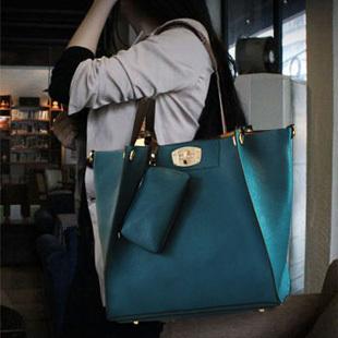 New Arrived casual popular handbag good quality leather shoulder bag fashion office bag free shipping