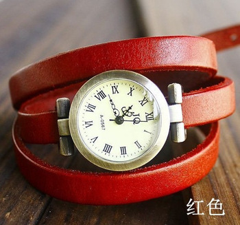 christmas gift sale 2012 New wholesale vintage Genuine Cow leather fashion Wrap Women watch ladies wrist watch 888888