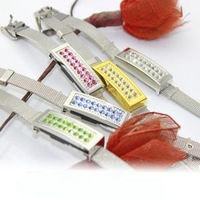 4-32GB beautiful crystal bracelet USB 2.0 Flash Memory Pen Drive Stick 6 Color U36