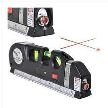 Grátis frete atacado de alta qualidade New Laser nível horizonte Vertical medida de fita 8FT alinhador Multipurpose Bubbles régua(China (Mainland))