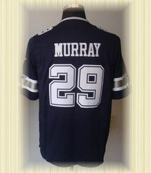 Arrived New Dallas Football Jerseys 29 DeMarco Murray Dark Blue 2012 Game Jerseys(China (Mainland))