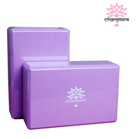 free shipping eco-friendly purple eva fitness exercise tool yoga blocks&bricks