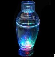 60pcs/lot Bar supplies Water Activated LED Light-Up blinking Flashing Rocks Barware Cocktail Shaker Bottle bar Cup Free Shipping
