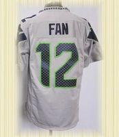 Arrived New Seattle Football Jerseys 12 Fan Grey Game Jerseys