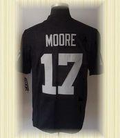 Arrived New Oakland Football Jerseys 17 Denarius Moore Black 2012 Game Jerseys