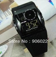 Hot sale New Digital LED Light Sport Boys multi-function OTS369G  rectangle watch Waterproof free shipping