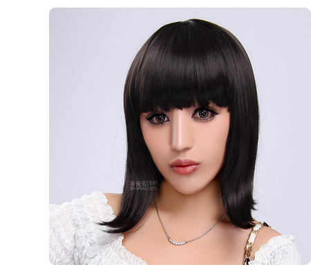 Free shipping whole sales fashion Queen natural straight lace front short straight bobs cut wig 2 colors women's on sales(China (Mainland))