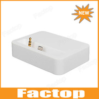 Charge and Data Docking Station with Audio Out for iPhone 5 (White)