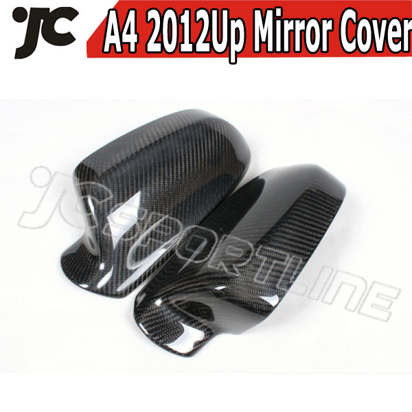 1Pair Car Mirror Cover Carbon fiber Wing Mirror Cover for Audi A4 2013UP Side Mirror Cover Case(China (Mainland))