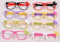 Baby hello kitty eyeglasses frame bow full frame double color frame for kids