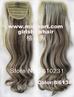 Ribbon Ponytail,synthetic hair extension, Long wavy Ponytail, Hairpiece Ponytail,Color 8/613 #,22 inches,1 pc