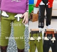 10pcs-winter children Palm coral fleece trousers boy's girl's pants long pants 2 color 200