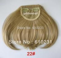 Fashion Hair bang,clip in hair bang,Neat hair bang,synthetic hair bang, Classical style hair fringe, color 22#