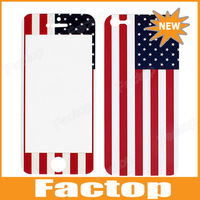 US Flag Pattern Front and Back Protector Stickers for iPhone 5