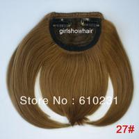 Fashion Hair bang,clip in hair bang,Neat hair bang,synthetic hair bang, Classical style hair fringe, color 27#