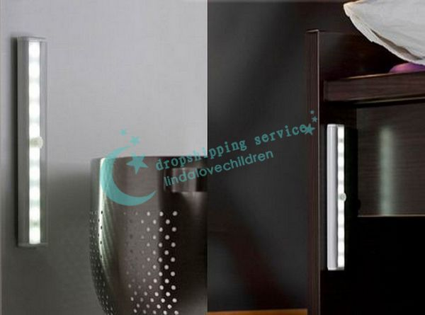 10 LED IR Infrared Motion Detector Wireless Sensor Closet Cabinet Light Lamp Hot Drop/Free Shipping(China (Mainland))