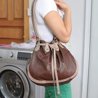 FREE SHIPPING vintage shoulder bag bucket bag women's handbag,Campus and casual style shoulder bag